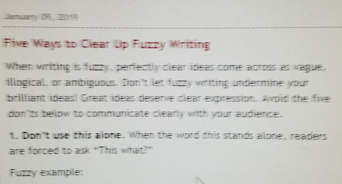 Fuzzy writing