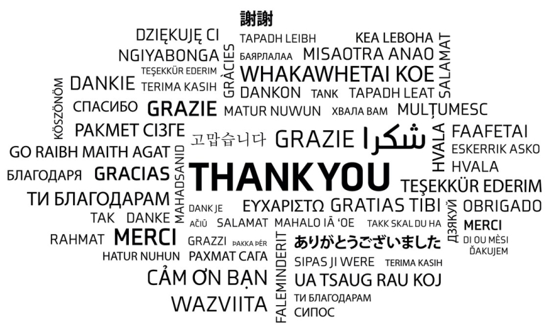 Say Thank You in Many Languages