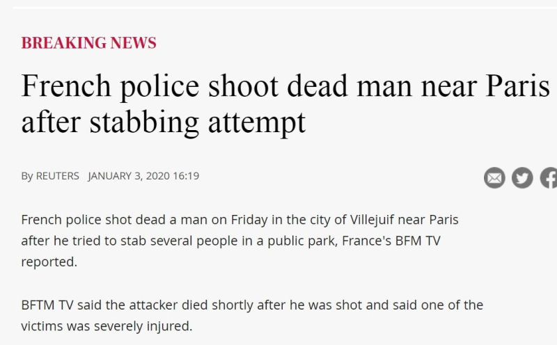 French police shoot dead man