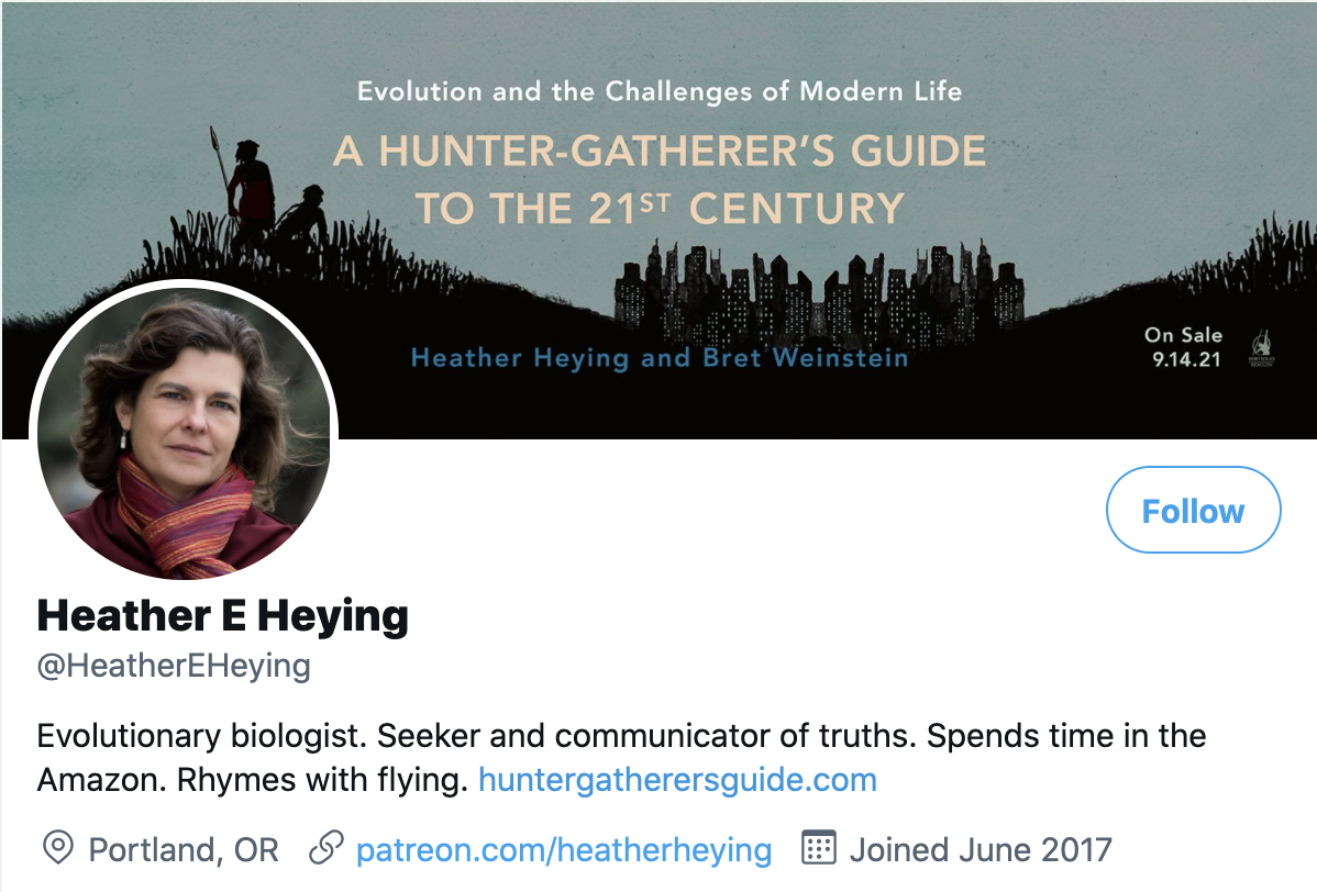 An example of how to write a business bio: Biography of Heather E. Heying